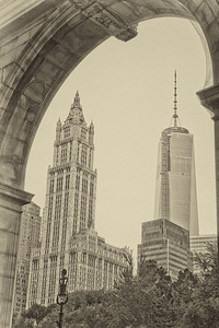 Woolworth Building and 1 World Trade Center, New York City