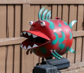 LB 159 Smiling Fish Letterbox