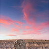 C 83 Haybale Sunset