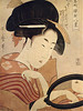 japanese woman w mirror