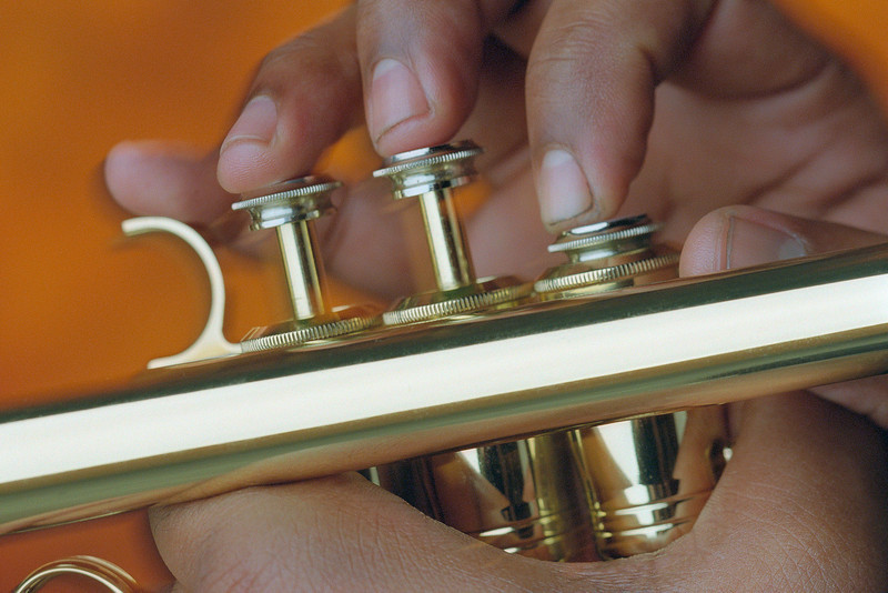Fingers on Trumpet Valves March 2001