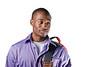 man ethnic-black purple shirt