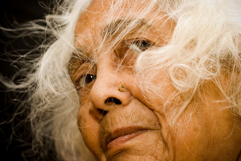 Close up of an Indian Senior