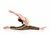 woman doing the splits.