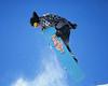 snowboarder from below