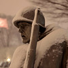 Snow covers the Korean War Veterans Memorial in Washington, Friday, Feb. 5, 2010. (AP Photo/Charles Dharapak)