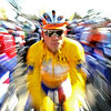 Leader of the race Lars Boom of Netherlands  is seen at the start of the second leg of the Paris-Nice cycling race Contres to Limoges, in Contres , central France, Tuesday, March 9, 2010. (AP Photo/Lionel Cironneau)