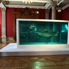 "Work of art of  British artist Damien Hirst, ""the Immortale"", a 14-foot tiger shark immersed in formaldehyde in a vitrine , is seen at the Oceanographic Museum of Monaco, Monday, March 29, 2010. The Oceanographic Museum of Monaco launches its centenary celebrations with an exhibition of paintings and sculptures by Damien Hirst between April 2 to Sept. 30, 2010.(AP Photo/Lionel Cironneau)"