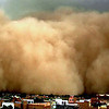 A dust storm engulfs the desert city of Bikaner, in the western Indian state of Rajasthan, Friday, April 2, 2010.  Hot conditions prevailed in most parts of northern India Friday,  with the maximum temperature in Bikaner rising to 39 degrees Celsius, according to a news agency. (AP Photo) ** INDIA OUT **