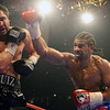 Britain's David Haye, right, throws a punch at John Ruiz of the USA, during their WBA Heavyweight World Championship boxing match at the MEN Arena in Manchester, England, Saturday, April 3, 2010. (AP Photo/Simon Dawson)