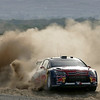 Sebastian Loeb of France drives his Citroen C4 WRC on the second day of the Jordan Rally, at the Dead Sea, near Amman, Jordan, Friday, April 2, 2010. (AP Photo/Nader Daoud)