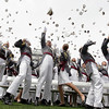 Graduates of the U.S. Military Academy in West Point, N.Y., celebrate Saturday, May 22, 2010.  (AP Photo/J. Scott Applewhite)