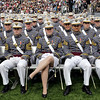 Graduates of the U.S. Military Academy await the arrival of President Barack Obama to deliver the commencement address, Saturday, May 22, 2010, in West Point, N.Y.  (AP Photo/J. Scott Applewhite)