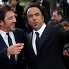 Actor Javier Bardem, left, and director Alejandro Gonzalez Inarritu arrive for the awards ceremony at the 63rd international film festival, in Cannes, southern France, Sunday, May 23, 2010. (AP Photo/Matt Sayles)