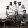 The ferris wheel from the Florida Circus sits among debris in Iloca, Chile,  Monday,  March 1, 2010.  (AP Photo/Fernando Vergara)