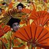 A dancer of Imperatriz samba school performs during carnival parade at the Sambadrome, in Rio de Janeiro, early Monday, Feb.15, 2010. (AP Photo/Silvia Izquierdo)