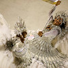 Members of Imperatriz samba school parade during carnival celebrations at the Sambodrome in Rio de Janeiro, Monday, Feb. 15, 2010. (AP Photo/Felipe Dana)