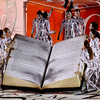 Members of Salgueiro samba school perform during carnival celebrations at the Sambadrome in Rio de Janeiro, early Monday, Feb.15, 2010. (AP Photo/Felipe Dana)