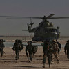 A group of Afghan National Army soldiers arrive at Shorabak base, Nad Ali district, Helmend province, southern Afghanistan, Sunday, Feb. 14, 2010. (AP Photo/Altaf Qadri)