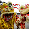 Chinese people perform a lion dance for the first day of the Lunar New Year celebrations at the Qianmen in Beijing, Sunday, Feb. 14, 2010. Millions of Chinese celebrated the Lunar New Year of the Tiger which began on Sunday. (AP Photo/Andy Wong)