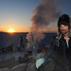 Lance Mackey prepares to leave the Unalakleet, Alaska, checkpoint in first place on Sunday morning, March 14, 2010, during the Iditarod Trail Sled Dog Race. (AP Photo/Anchorage Daily News, Bob Hallinen)