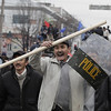 Kyrgyzstan_Protest_LON1(2).JPG A Kyrgyz protester holds a captured police shield  during clashes with police in Bishkek, Kyrgyzstan, Wednesday, April 7, 2010. Police in Kyrgyzstan opened fire on thousands of angry protesters who tried to seize the main government building amid rioting in the capital as protests spread across the Central Asian nation. (AP Photo/Ivan Sekretarev)