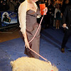** CORRECTING NAME OF MOVIE TO NANNY MCPHEE ** British actress Emma Thompson arrives with a pig on a lead, for the World Premiere of the movie Nanny McPhee,  at the Leicester Square Odeon cinema in central London, Wednesday, March 24, 2010. (AP Photo/Joel Ryan)