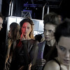Models wearing a creation by Russian designer Kira Plastinina seen at the backstage during the fashion week in Moscow, Wednesday, March 24, 2010. (AP Photo/Sergey Ponomarev)