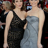 Tina Fey, left, and Elizabeth Banks arrive at the 82nd Academy Awards Sunday,  March 7, 2010, in the Hollywood section of Los Angeles. (AP Photo/Amy Sancetta)