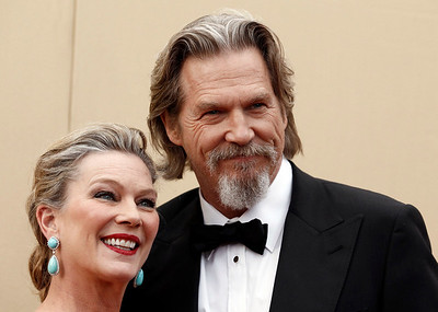 Jeff Bridges and Susan Bridges arrive during the 82nd Academy Awards Sunday,  March 7, 2010, in the Hollywood section of Los Angeles. (AP Photo/Matt Sayles)