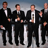 "From left, Richard Baneham, Andrew R. Jones, Joe Letteri, and Stephen Rosenbaum accept the Oscar for best achievement in visual effects for ""Avatar"" during the 82nd Academy Awards Sunday,  March 7, 2010, in the Hollywood section of Los Angeles. (AP Photo/Mark J. Terrill)"