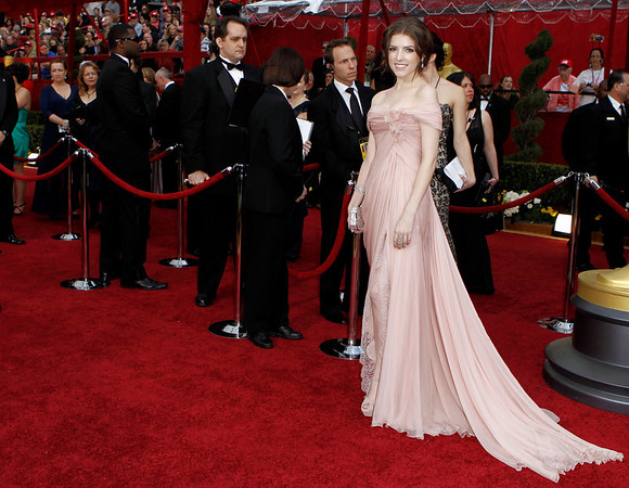 Anna Kendrick arrives during the 82nd Academy Awards Sunday,  March 7, 2010, in the Hollywood section of Los Angeles. (AP Photo/Matt Sayles)