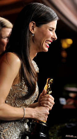 Oscar winner Sandra Bullock attends the Governors Ball following the the 82nd Academy Awards Sunday,  March 7, 2010, in the Hollywood section of Los Angeles. (AP Photo/Chris Pizzello)