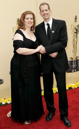 Director Pete Docter and his wife Amanda arrive during the 82nd Academy Awards Sunday,  March 7, 2010, in the Hollywood section of Los Angeles. (AP Photo/Matt Sayles)