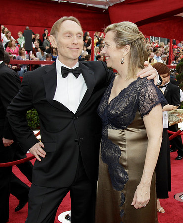 """Coraline"" director Henry Sellick, left, and his wife Heather arrive at the 82nd Academy Awards Sunday,  March 7, 2010, in the Hollywood section of Los Angeles. (AP Photo/Amy Sancetta)"