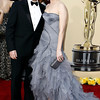 Elizabeth Banks and Max Handelman arrive during the 82nd Academy Awards Sunday,  March 7, 2010, in the Hollywood section of Los Angeles. (AP Photo/Matt Sayles)