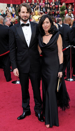 "Writer of ""The Hurt Locker"" Mark Boal and guest arrive the 82nd Academy Awards Sunday,  March 7, 2010, in the Hollywood section of Los Angeles. (AP Photo/Chris Pizzello)"