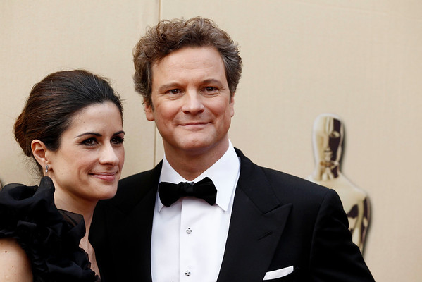 Colin Firth and Livia Giuggioli arrive during the 82nd Academy Awards Sunday,  March 7, 2010, in the Hollywood section of Los Angeles. (AP Photo/Matt Sayles)