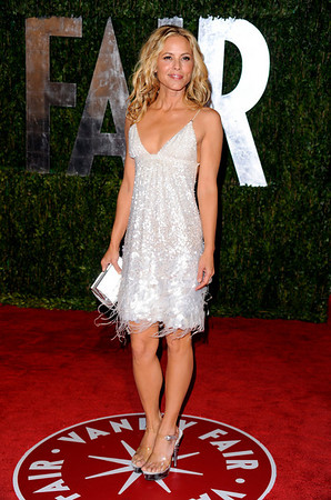 Actress Maria Bello arrives at the Vanity Fair Oscar party on Sunday, March 7, 2010, in West Hollywood, Calif. (AP Photo/Peter Kramer)
