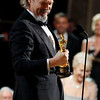"Jeff Bridges accepts the Oscar for best performance by an actor in a leading role for ""Crazy Heart"" at the 82nd Academy Awards Sunday,  March 7, 2010, in the Hollywood section of Los Angeles. (AP Photo/Chris Carlson)"