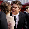 Actor Zac Efron is greeted as he arrives at the 82nd Academy Awards Sunday,  March 7, 2010, in the Hollywood section of Los Angeles. (AP Photo/Amy Sancetta)