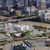 Water from Cumberland River flows over its banks in Nashville, Tenn., on Monday, May 3, 2010. After heavy weekend rains and flooding, officials in Tennessee are preparing for the Cumberland River, which winds through Nashville, to crest more than 11 feet Monday afternoon.  (AP Photo/Mark Humphrey)