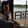 Severe Weather.JPEG-084b9.JPG Sunlight reflects off floodwater and onto the face of an Elvis Presley statue outside a restaurant Monday, May 3, 2010, in Nashville, Tenn. After heavy weekend rains and flooding, officials in Tennessee are preparing for the Cumberland River, which winds through Nashville, to crest sometime Monday afternoon. (AP Photo/Jeff Roberson)
