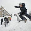 APTOPIX_BELARUS_WEATHER(2).JPG Children enjoy a slide on a little hill after a heavy snowfall in Minsk, Belarus, Monday, Feb. 1, 2010. (AP Photo/Sergei Grits)