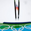 An unidentified athlete makes an attempt during a ski jumping training session at the Vancouver 2010 Olympics in Whistler, British Columbia, Canada, Thursday, Feb. 11, 2010. (AP Photo/Matthias Schrader)
