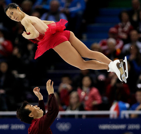 China's Shen Xue and Zhao Hongbo perform their pairs free program during the figure skating competition at the Vancouver 2010 Olympics in Vancouver, British Columbia, Monday, Feb. 15, 2010. (AP Photo/Ivan Sekretarev)