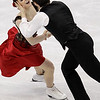 Canada's Tessa Virtue and Scott Moir perform their original dance during the ice dance figure skating competition at the Vancouver 2010 Olympics in Vancouver, British Columbia, Sunday, Feb. 21, 2010. (AP Photo/David J. Phillip)