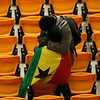 Ghana supporters are seen following the World Cup quarterfinal soccer match between Uruguay and Ghana at Soccer City in Johannesburg, South Africa, Friday, July 2, 2010. Uruguay reached the World Cup semifinals for the first time since 1970, beating Ghana 4-2 on penalties after a 1-1 draw Friday. (AP Photo/Themba Hadebe)