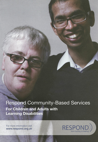 "Publicity leaflet for the charity Respond -  <a href=""http://www.respond.org.uk"">http://www.respond.org.uk</a>"