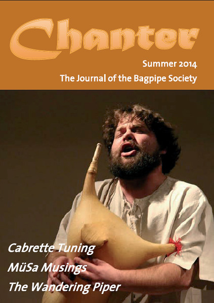 My picture of Croatian Bagpiper Goran Farkaš makes it to the front page of Chanter Magazine, loved by Bagpipe players everywhere!